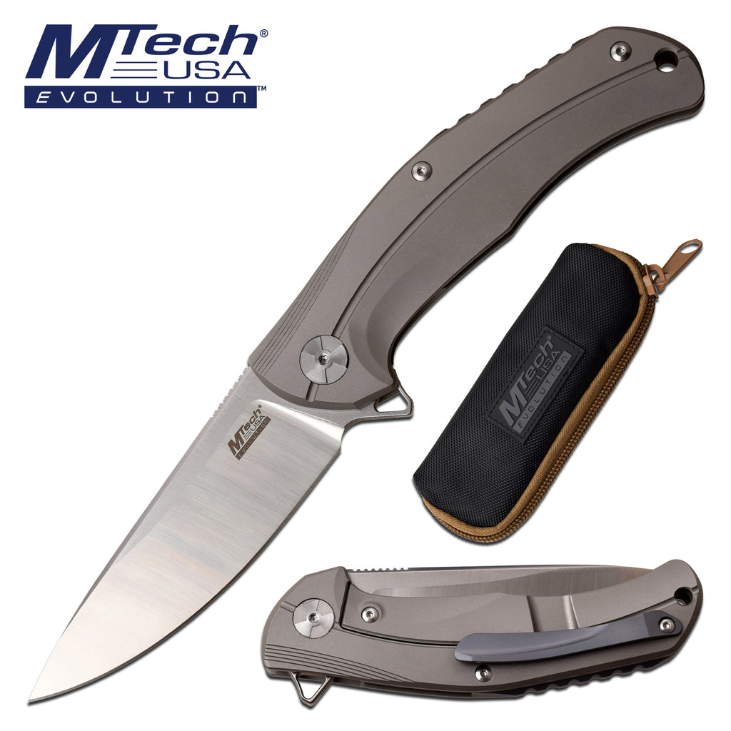 MTech Evolution MTE-FDR026-GY Manual Folding Knife
