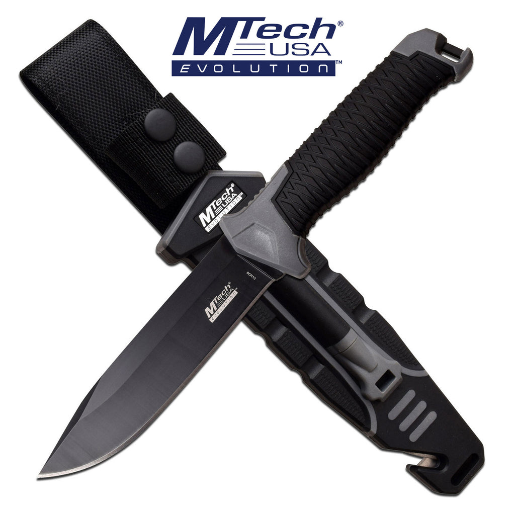 MTech Evolution MTE-FIX009M-GY Fixed Blade Knife