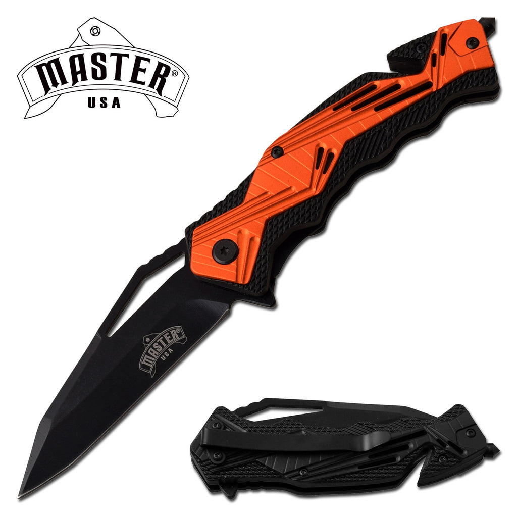 Masters USA MU-A079OR Spring Assisted Knife