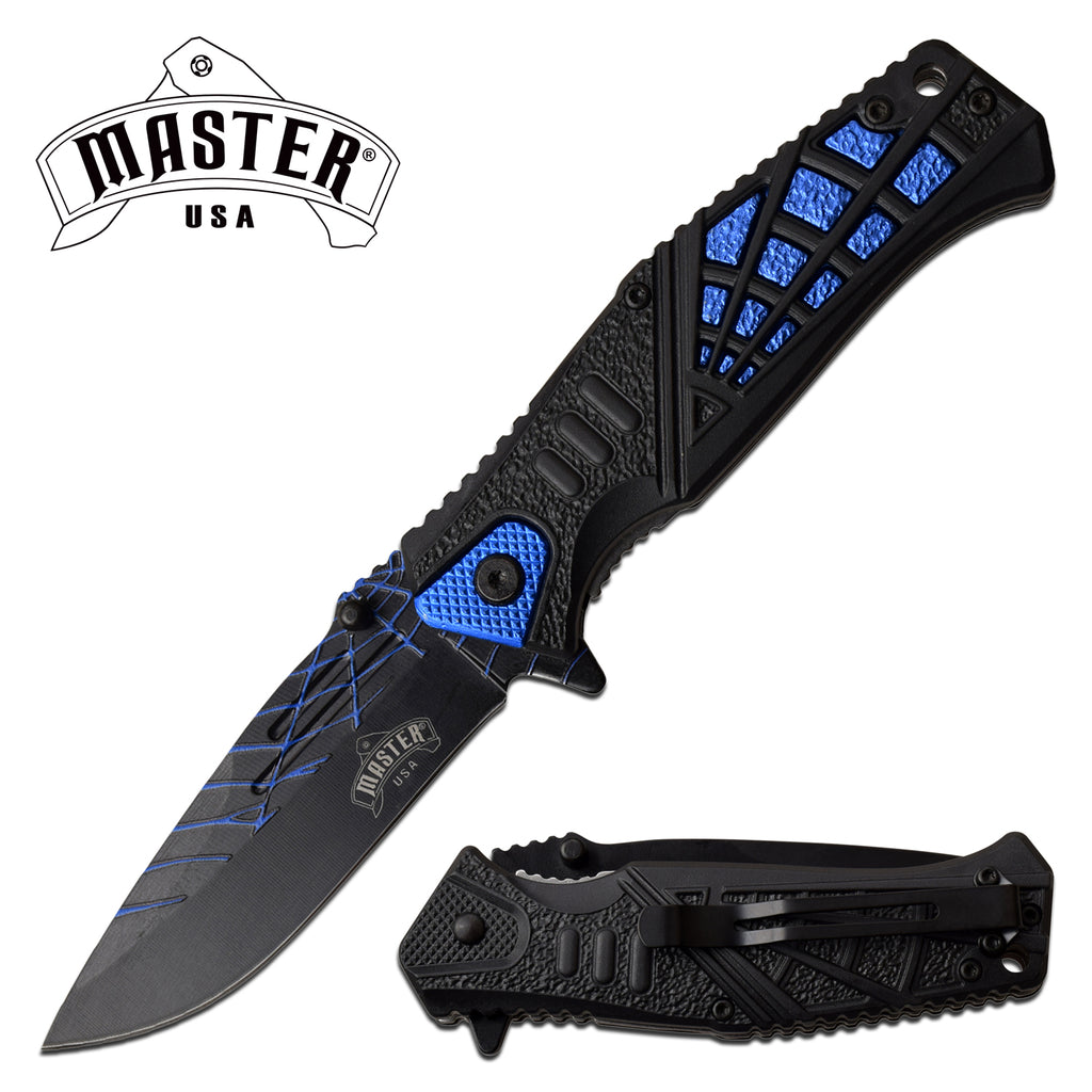 Master USA MU-A087BL Spring Assisted Knife