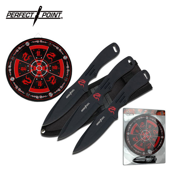 Perfect Point PP-075-3BK Throwing Knife Set