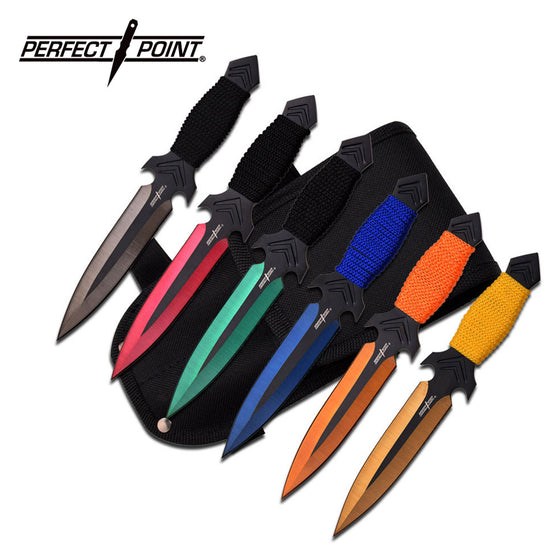 Perfect Point PP-081-6M Throwing Knife Set