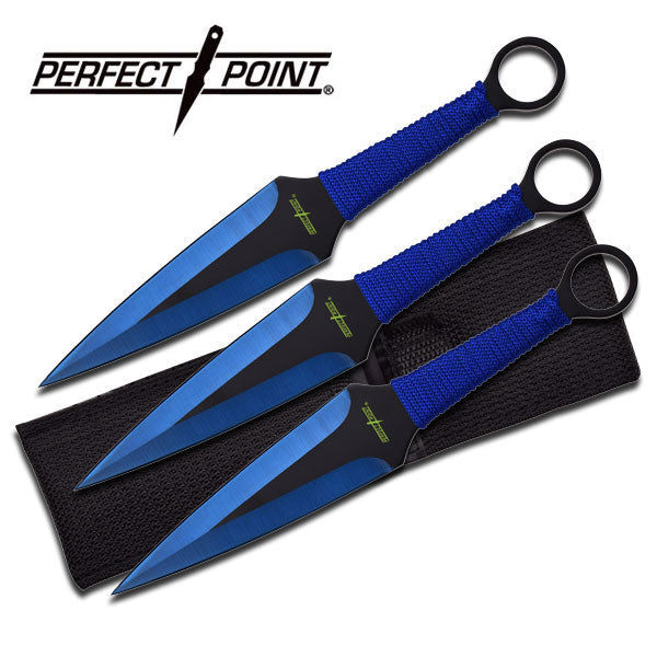 Perfect Point PP-869-3BL Throwing Knife Set