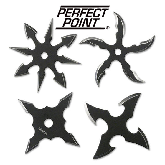 Perfect Point RC-107-4B Throwing Star Set