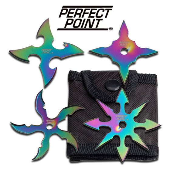 Perfect Point RC-107-4R Throwing Star Set