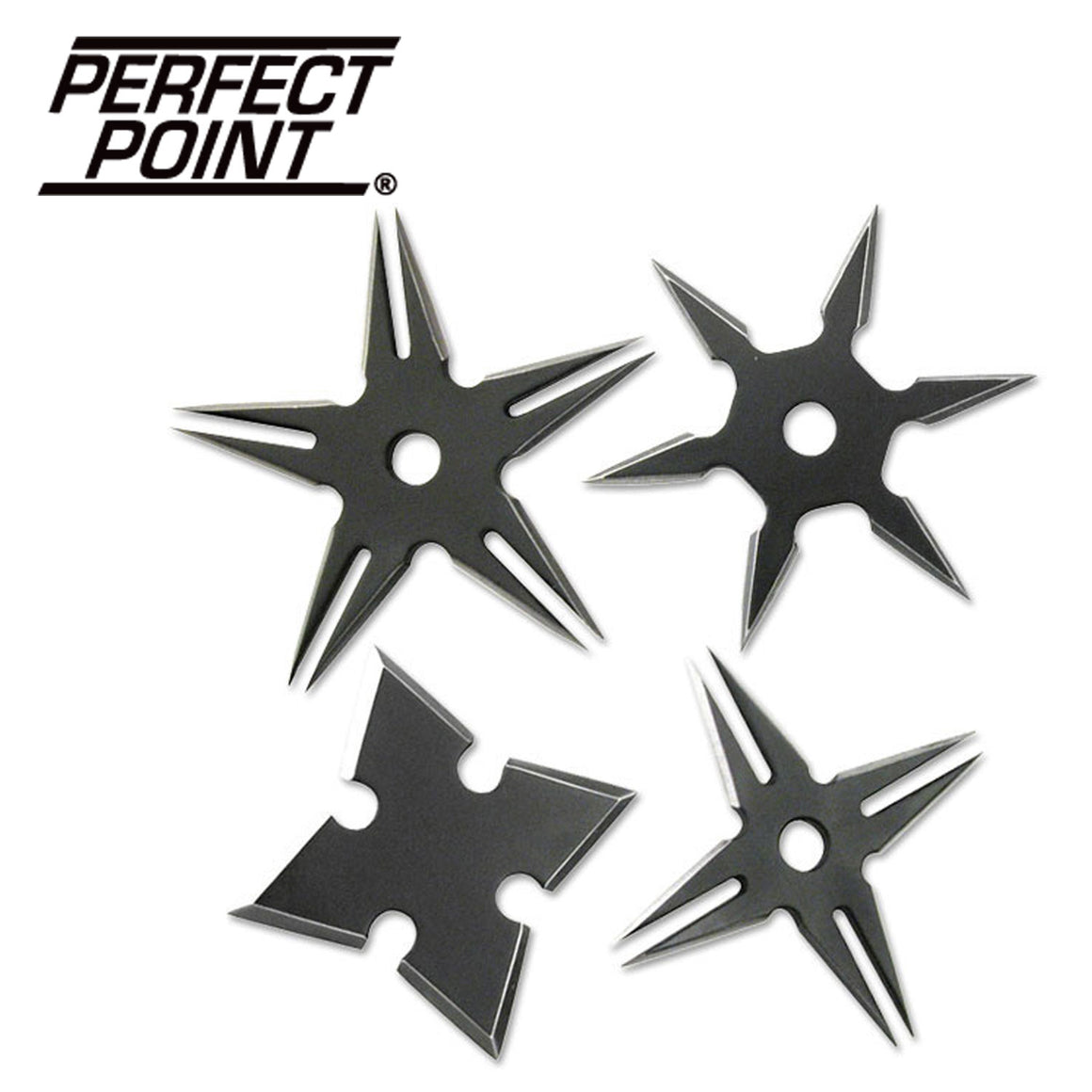 Perfect Point RC-108-4B Throwing Star Set