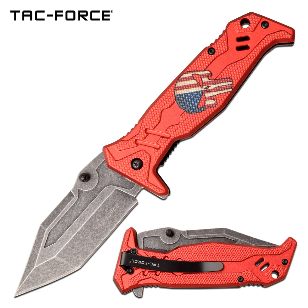 Tac-Force TF-1025RD Spring Assisted Knife