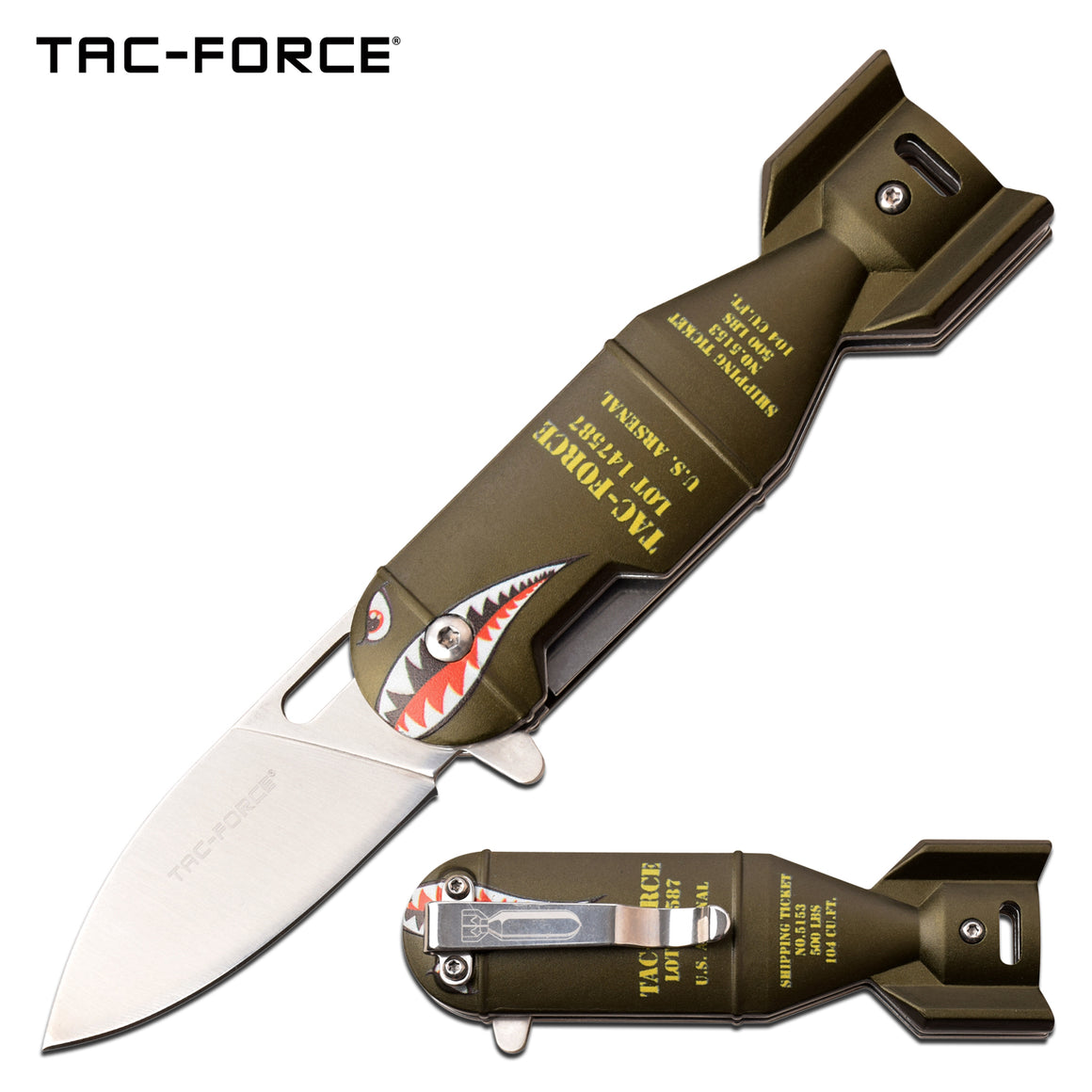 Tac-Force TF-1039GN Spring Assisted Knife