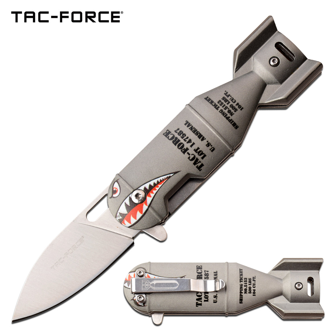 Tac-Force TF-1039GY Spring Assisted Knife