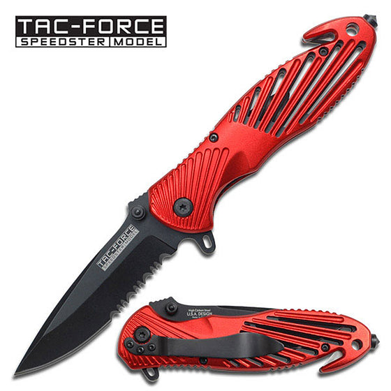 Tac-Force TF-702RD Spring Assisted Knife