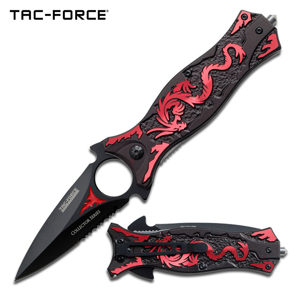 Tac-Force TF-707RD Spring Assisted Knife
