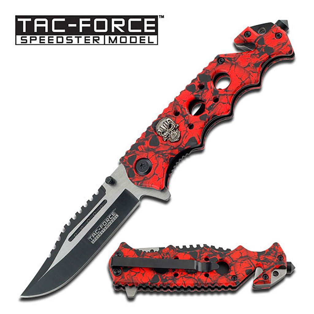 Tac-Force TF-809RD Spring Assisted Knife