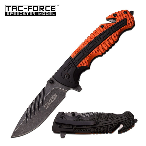 Tac-Force TF-919OR Spring Assisted Knife