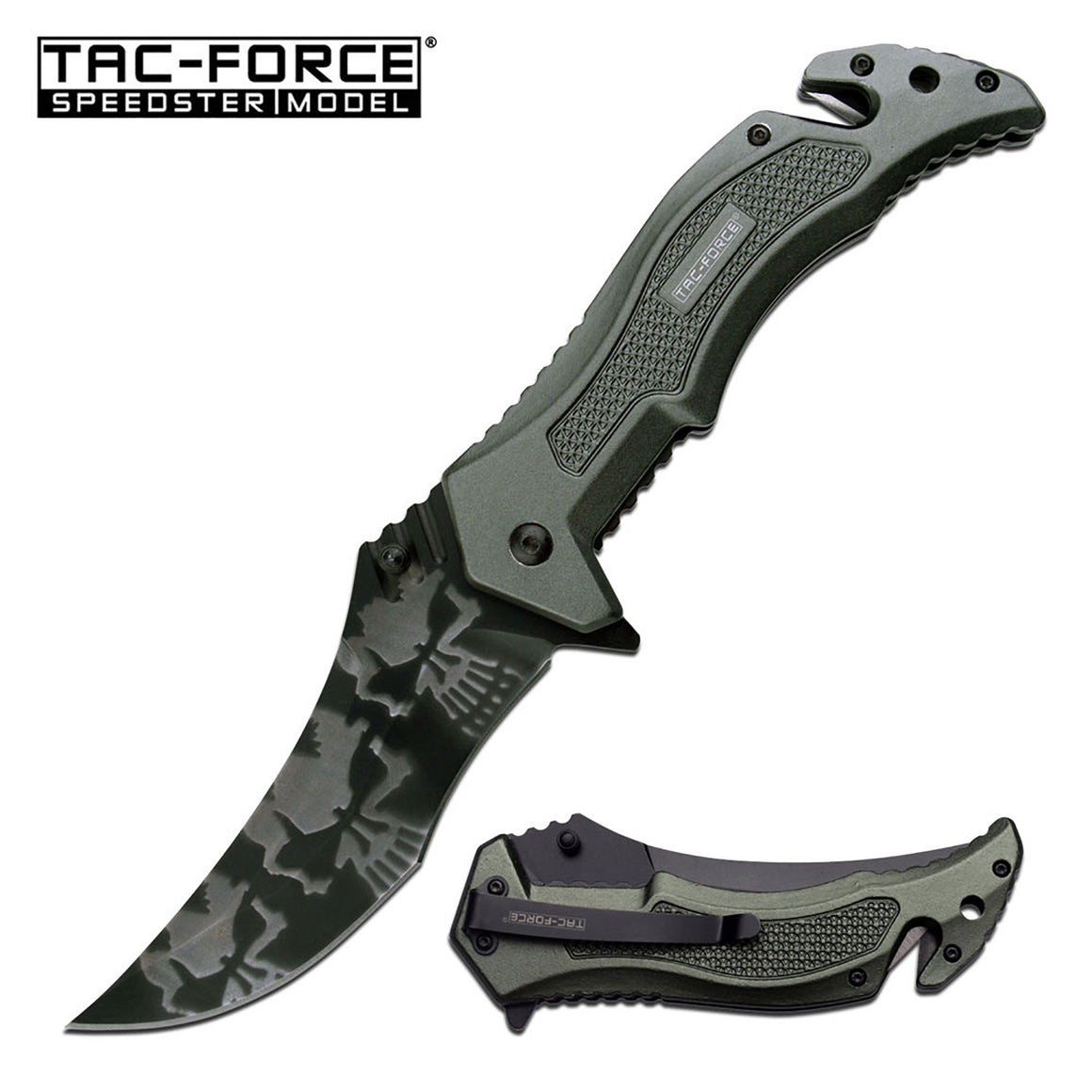 Tac-Force TF-946GN Spring Assisted Knife