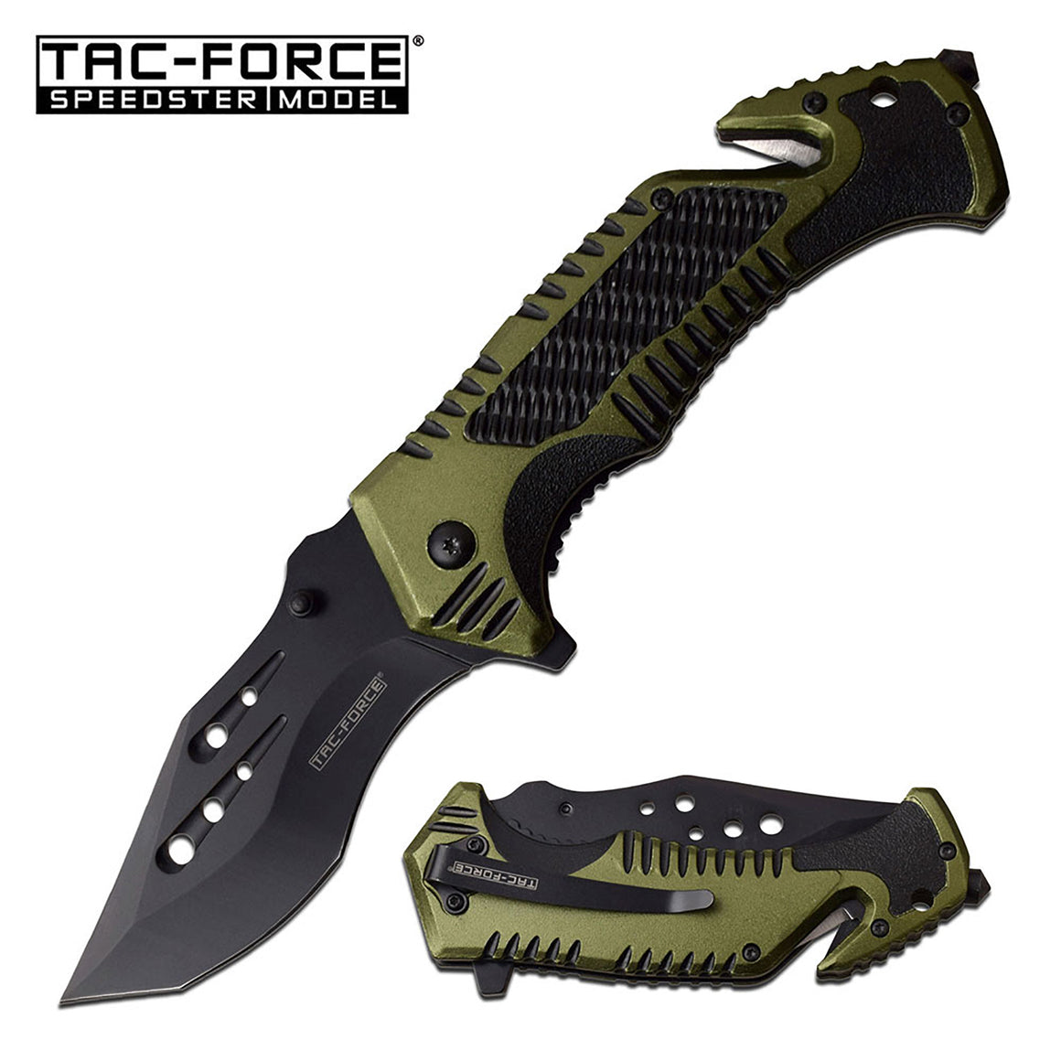 Tac-Force TF-954BGN Spring Assisted Knife