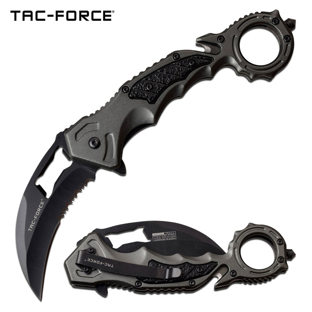 Tac-Force TF-972GY Spring Assisted Knife