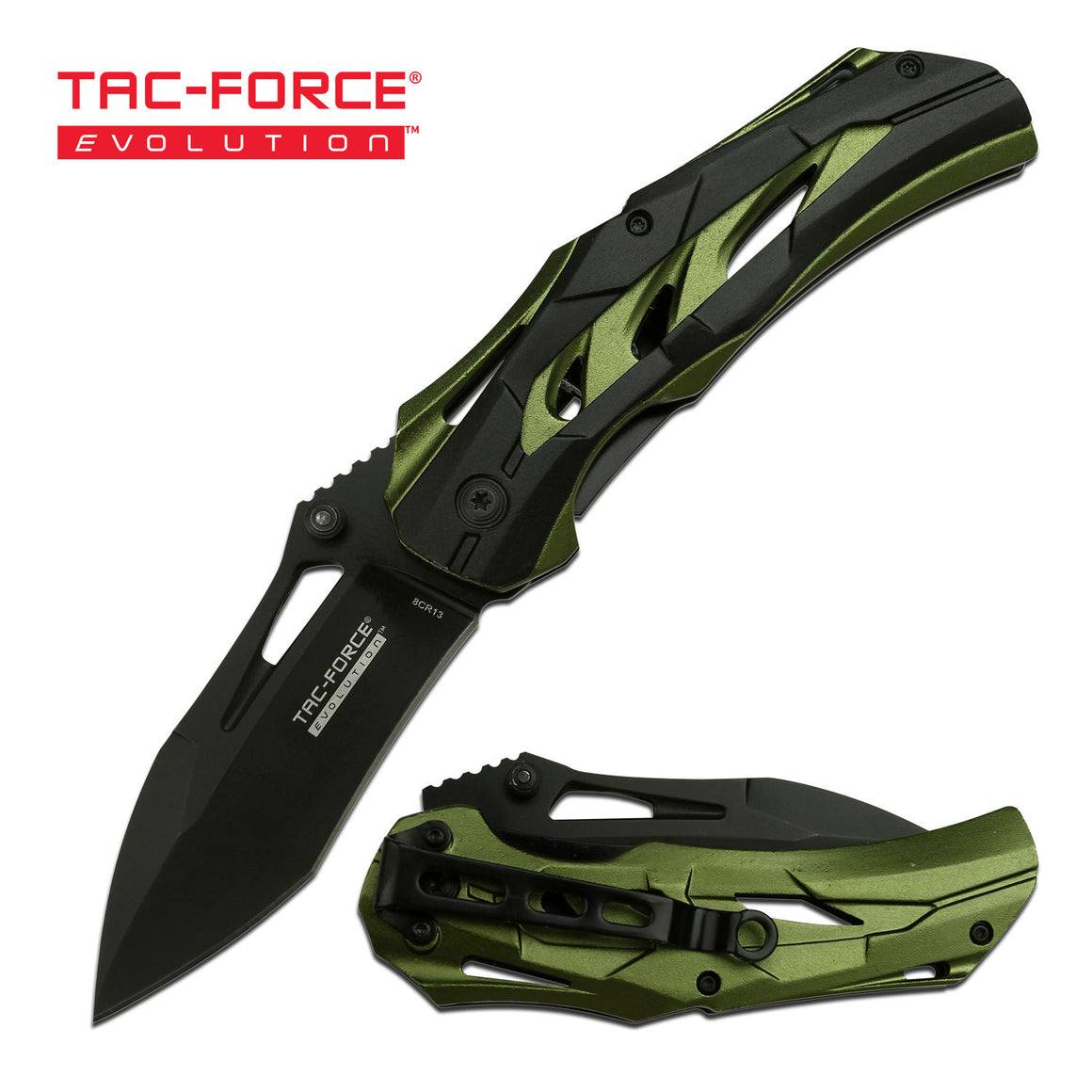 Tac-Force Evolution TFE-A003BGN Spring Assisted Knife