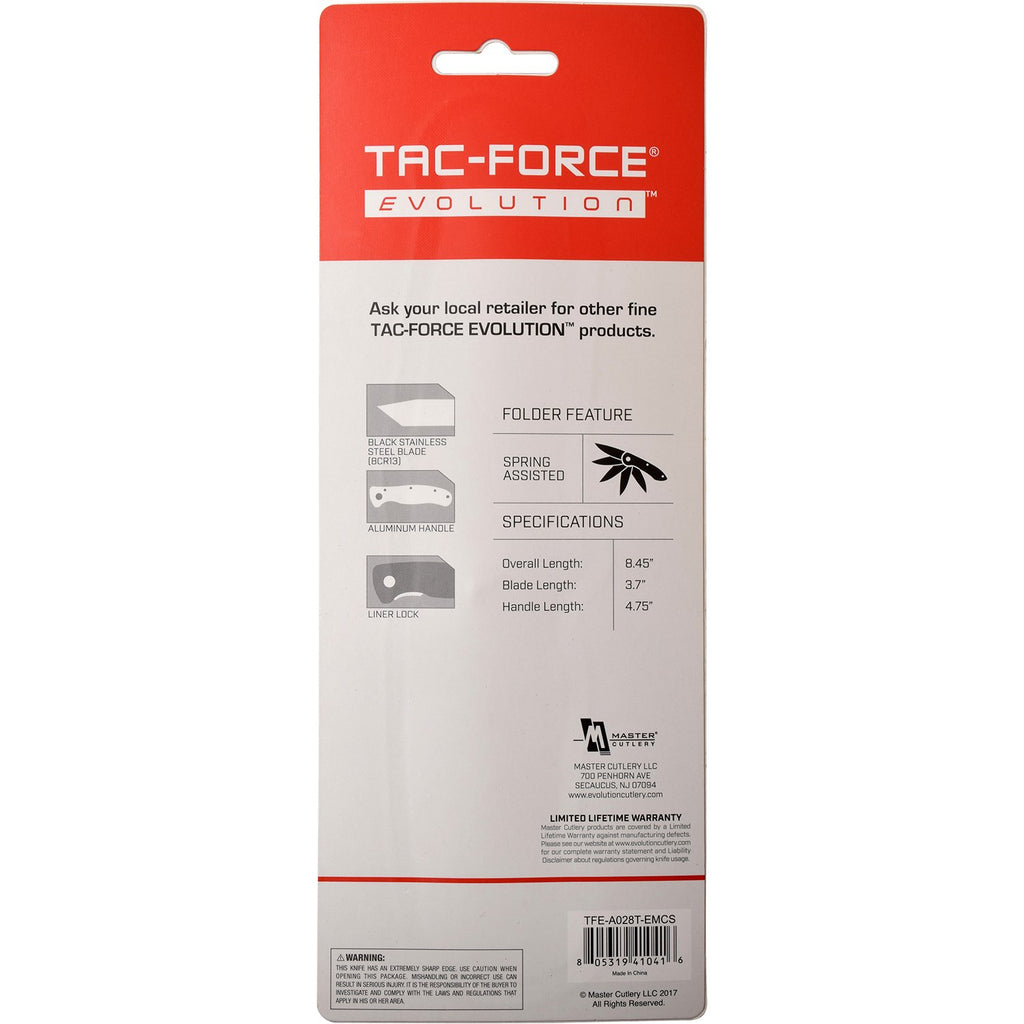 Tac-Force Evolution TFE-A028T-EM Spring Assisted Knife