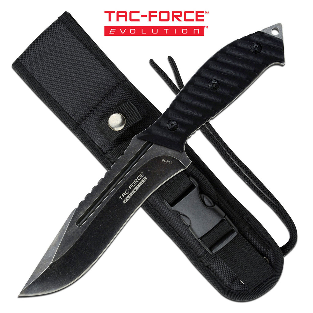 Tac-Force Evolution TFE-FIX003-BK Fixed Blade Knife