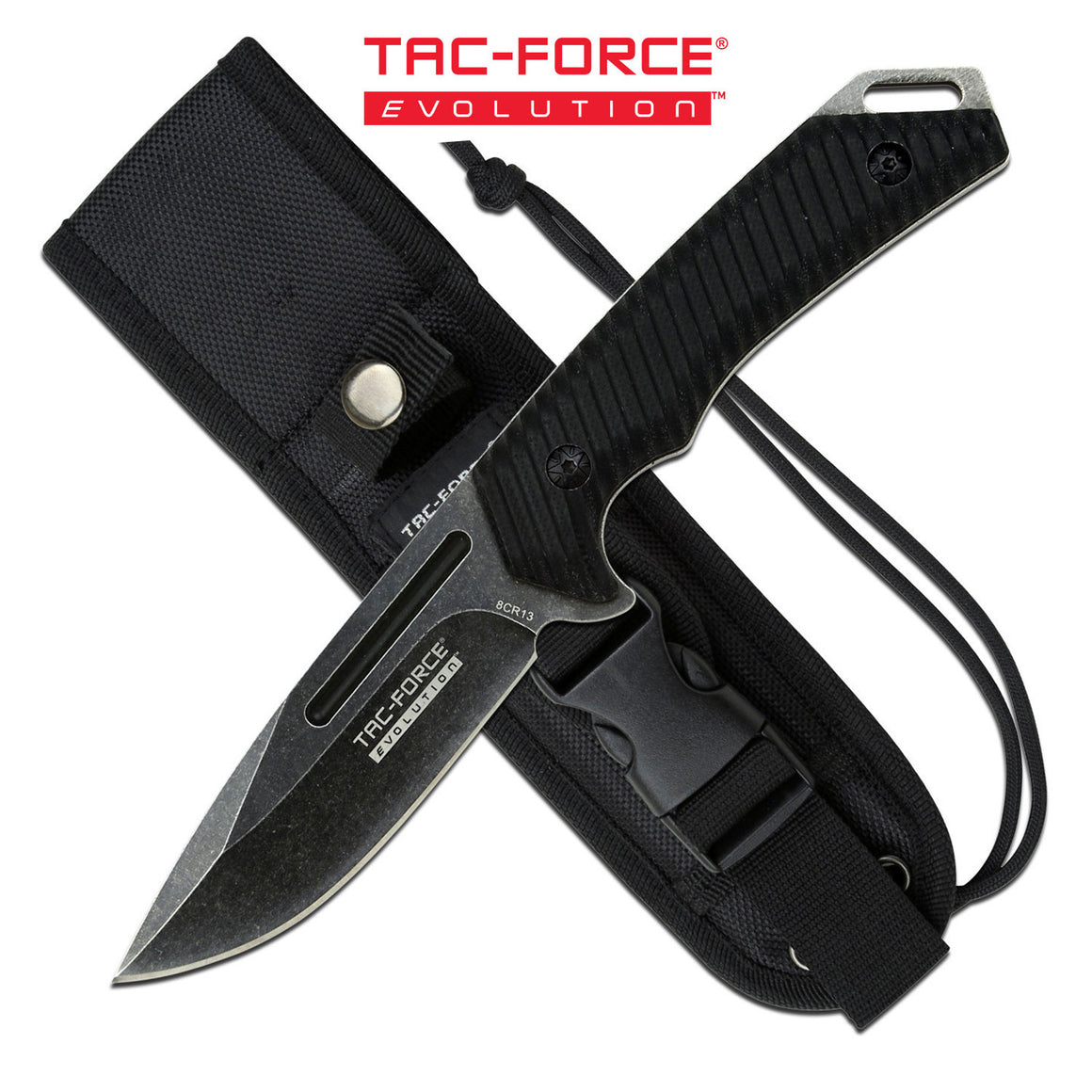 Tac-Force Evolution TFE-FIX005-BK Fixed Blade Knife