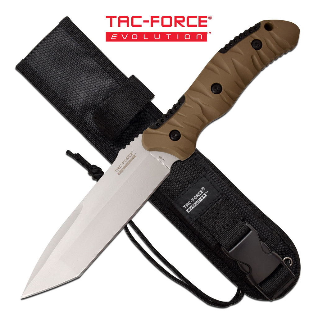 Tac Force Evolution TFE-FIX015T-TN Fixed Blade Knife