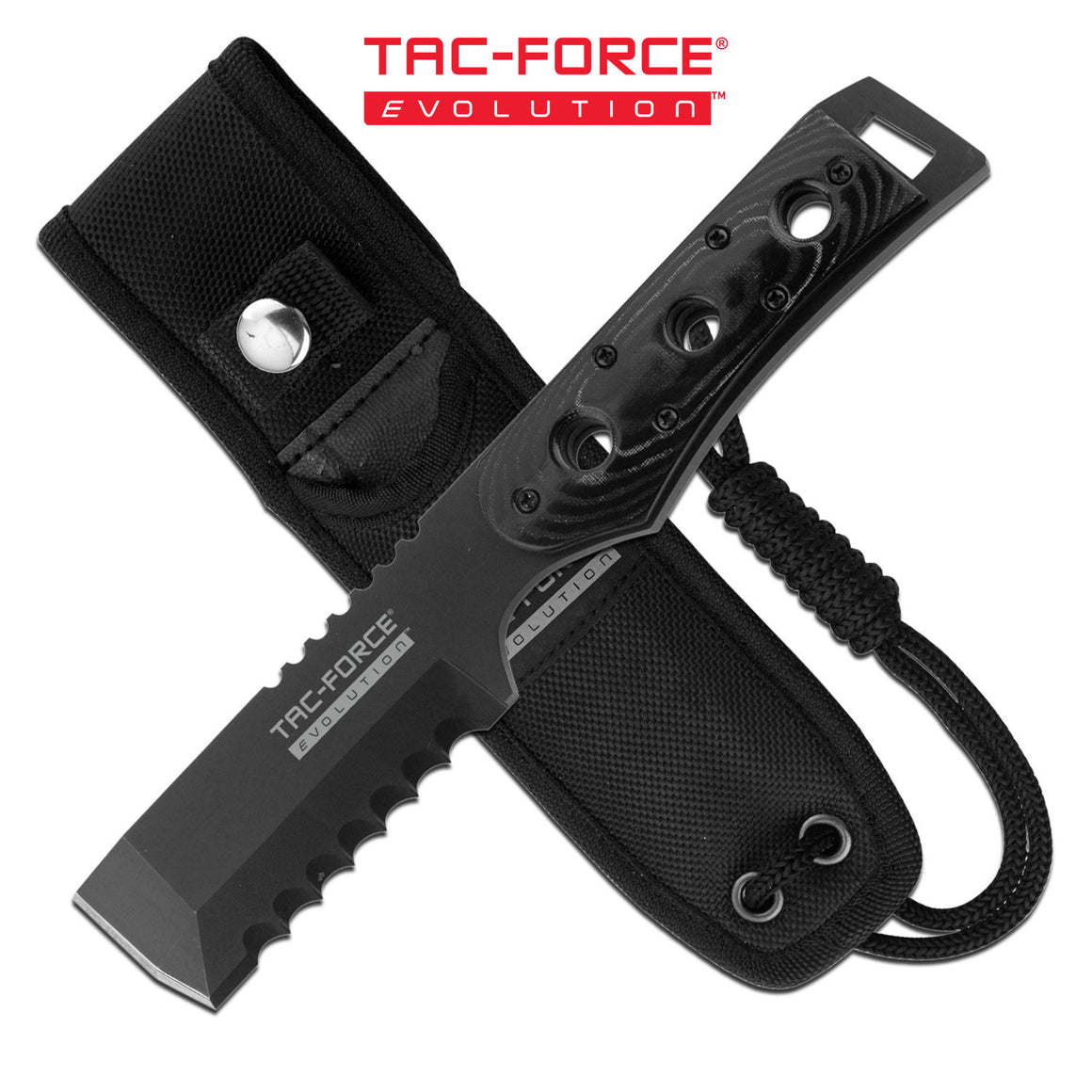 Tac-Force Evolution TFE-FIX016-BK Fixed Blade Knife