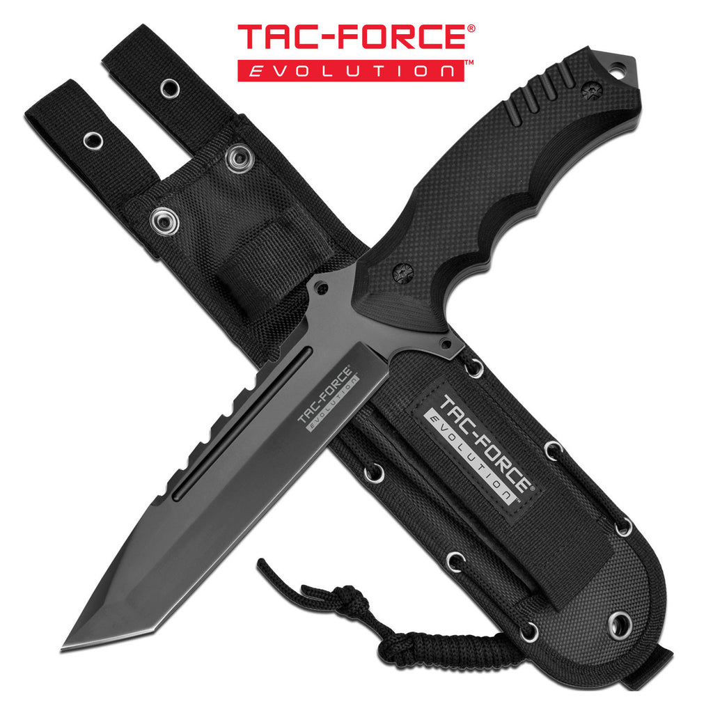 Tac-Force Evolution TFE-FIX017T-BK Fixed Blade Knife