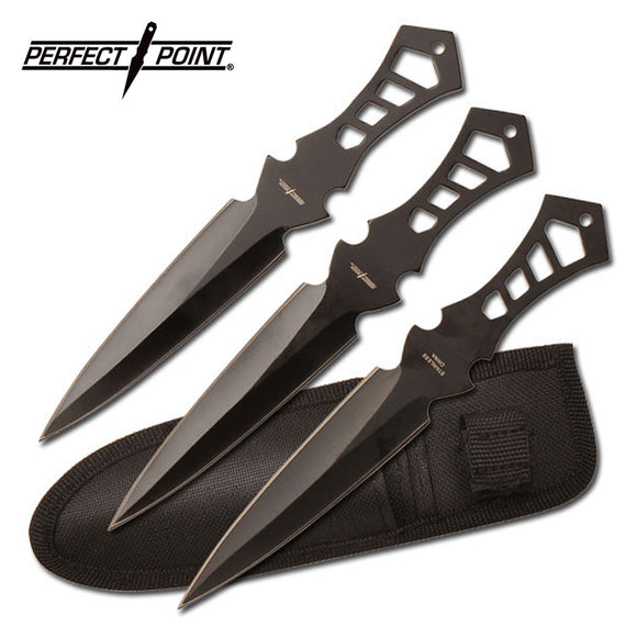 Perfect Point TK-017-3B Throwing Knife Set