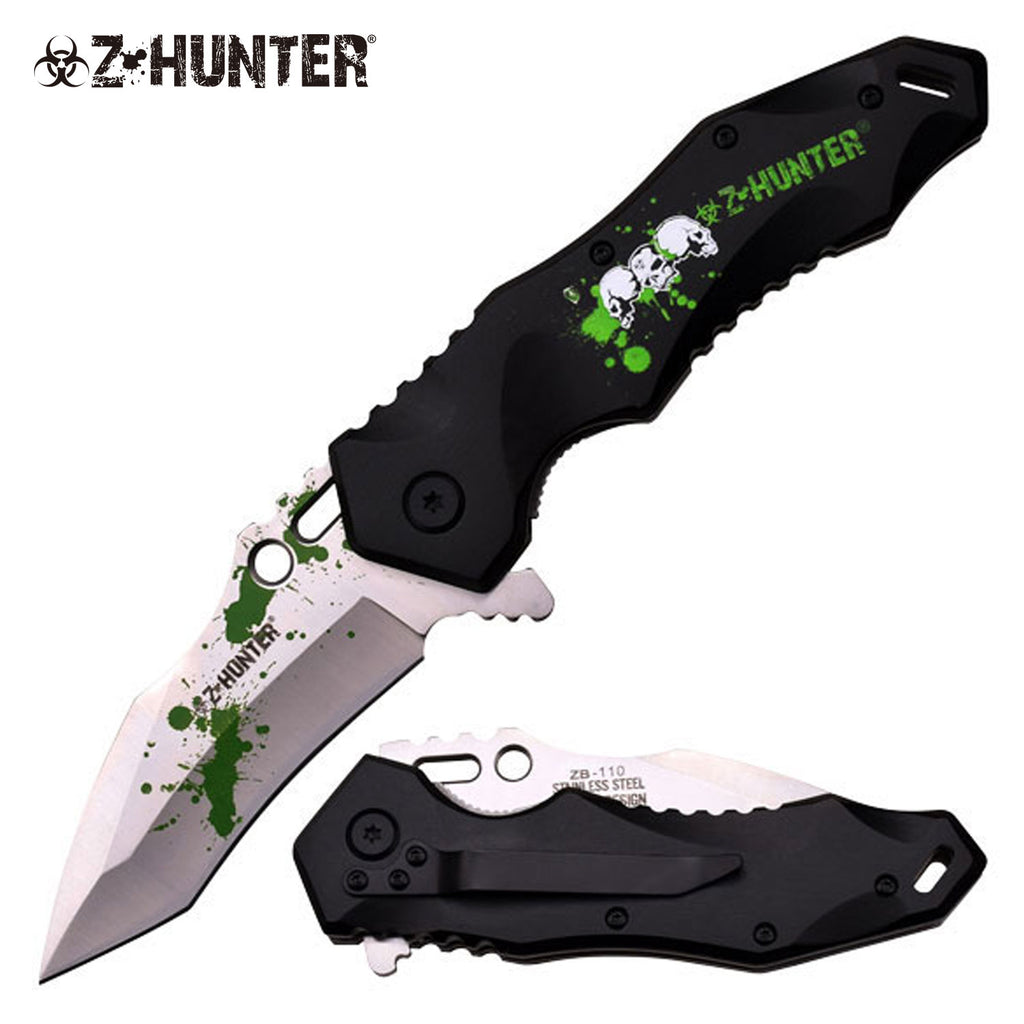 Z-Hunter ZB-110BG Spring Assisted Knife