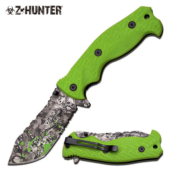 Z-Hunter ZB-114GB Spring Assisted Knife