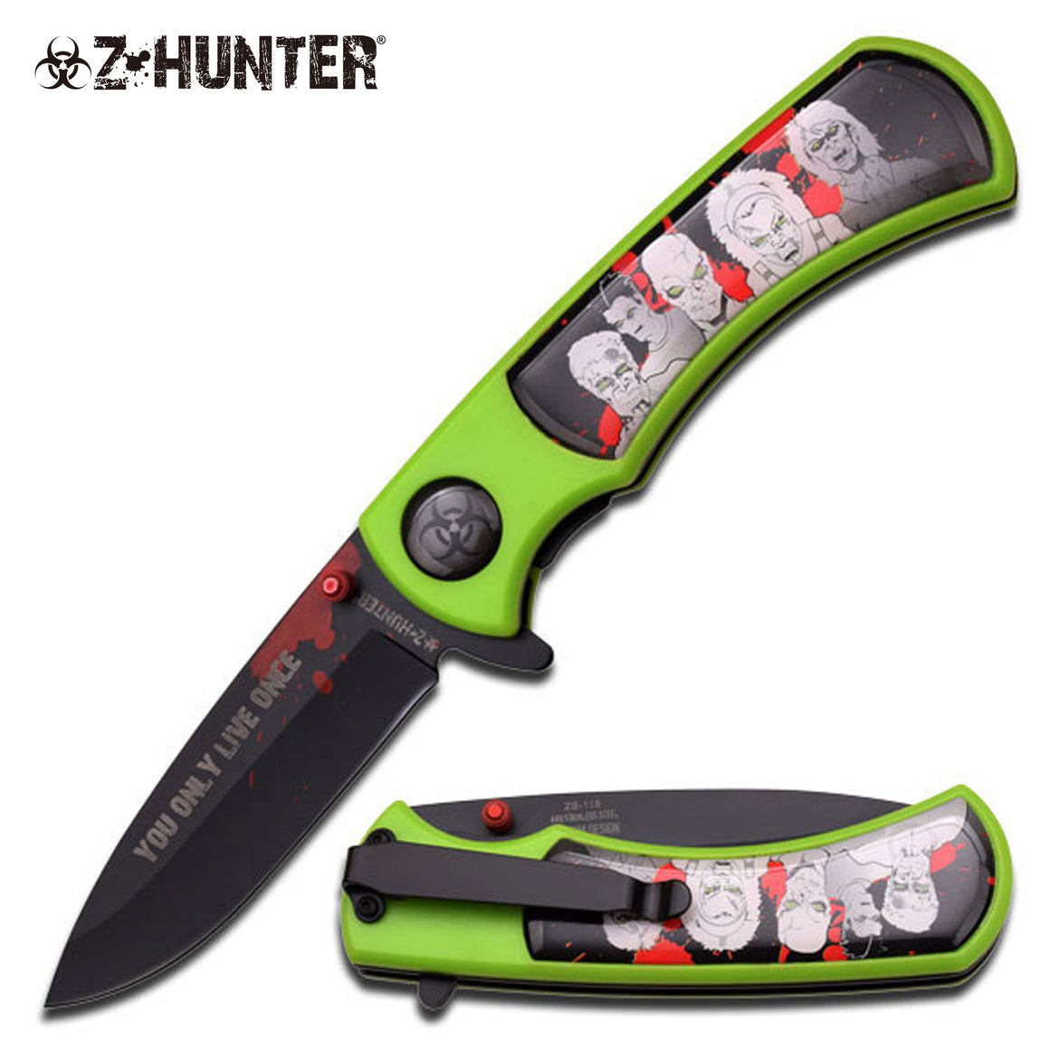 Z-Hunter ZB-118BG Spring Assisted Knife