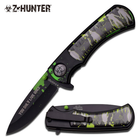 Z-Hunter ZB-118BK Spring Assisted Knife