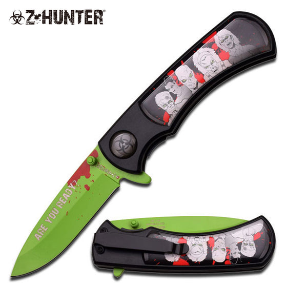 Z-Hunter ZB-118GB Spring Assisted Knife