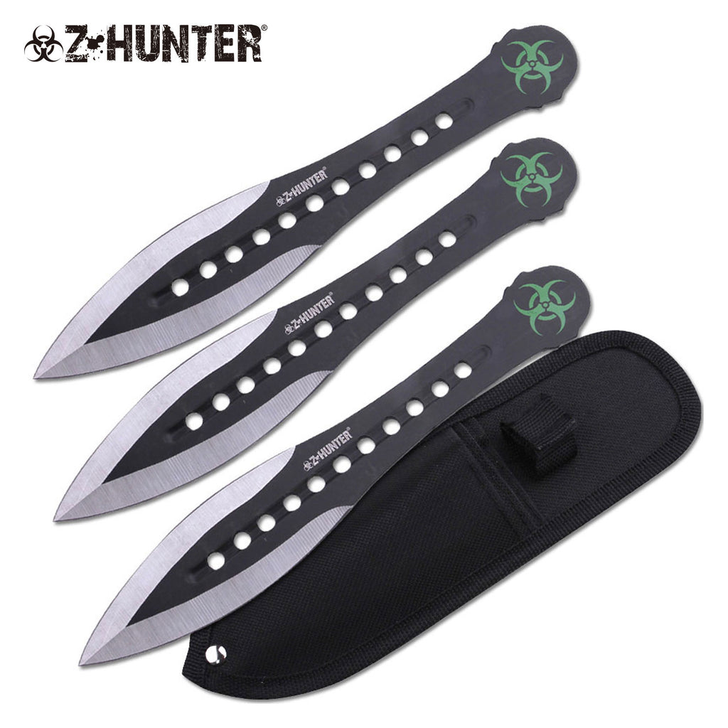 Z-Hunter ZB-163-3BK Throwing Knife Set