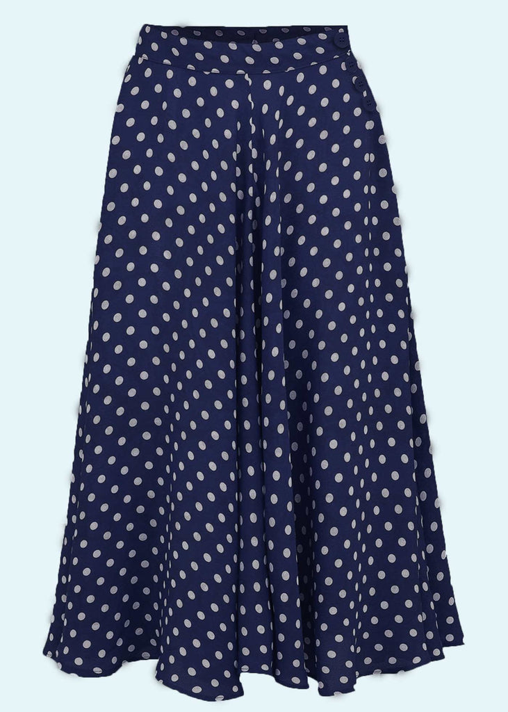 Bloomsbury: Isabelle navy skirt with dots