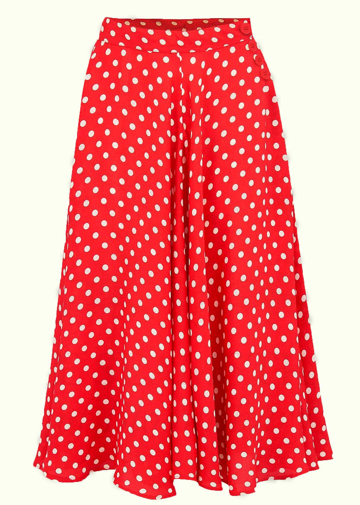 Bloomsbury: Isabelle skirt in red with dots