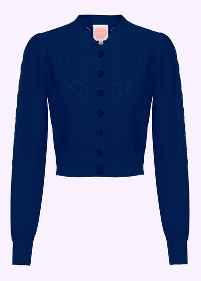 Emmy Design: Peggy Sue Cardigan i navy - midnight blue toej mondokaos