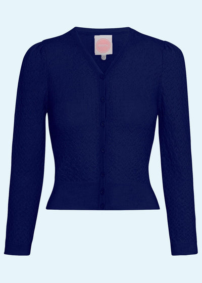 Emmy Design: The Delightful Daytime cardigan i navy toej Mondo Kaos