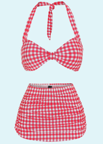 Esther Williams: 1950'er stils Bikini i gingham toej mondokaos