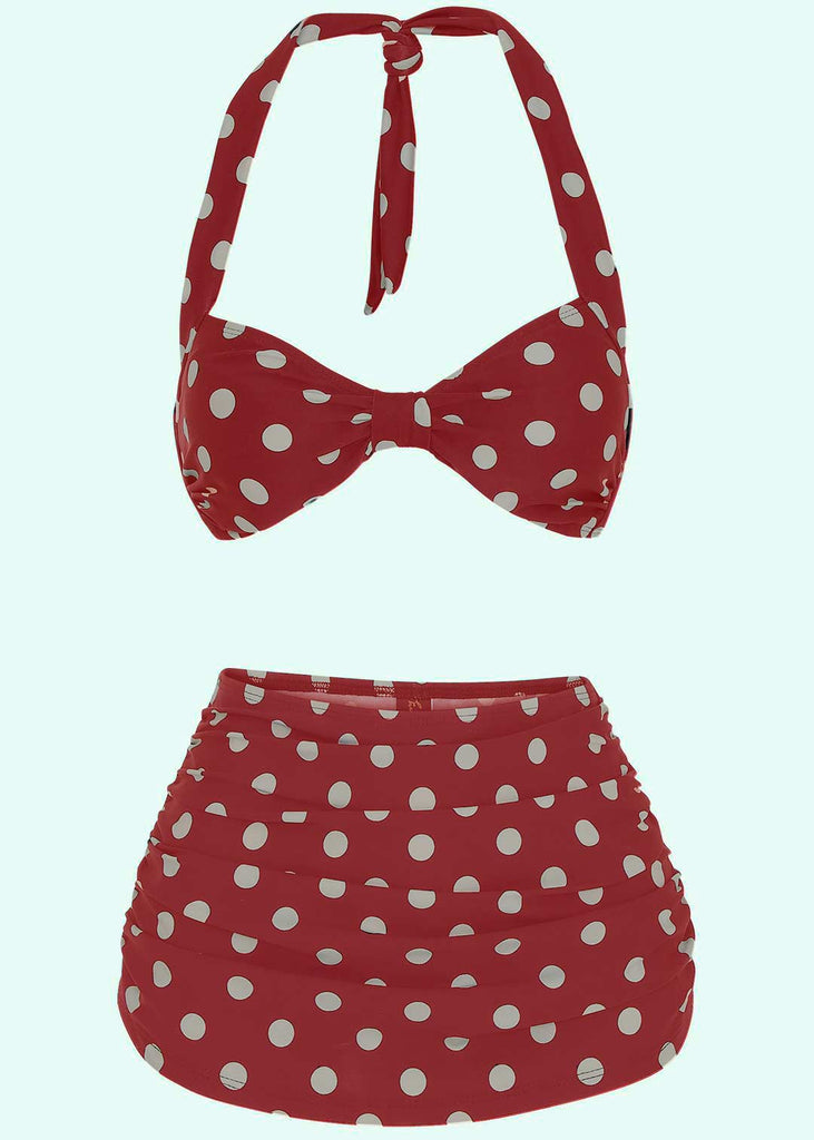 Esther Williams: 1950s style Bikini in red with dots