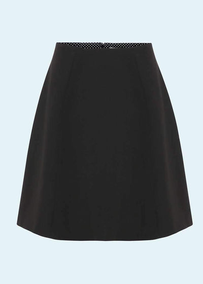 Grünten Mode: 1960'er A-line mini skirt i sort toej mondokaos