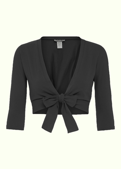 Heart Of Haute: 'Sweet Sweater' Bolero i sort Mondo Kaos