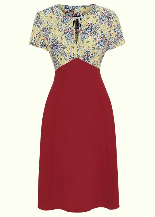 House Of Foxy: Grable dress in 'summerspray' floral print