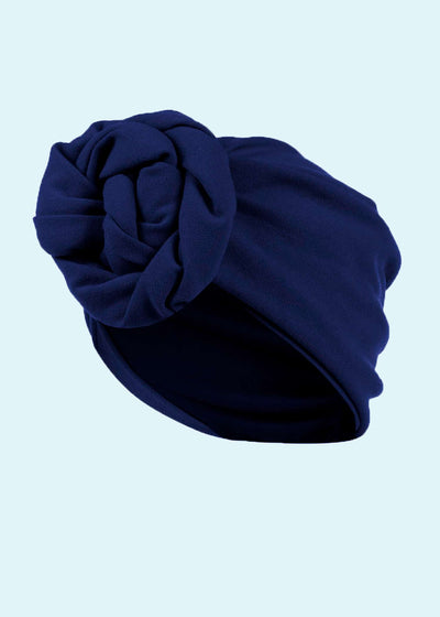 House of Foxy: Turban - navy i 1940er stil Accessories Mondo Kaos