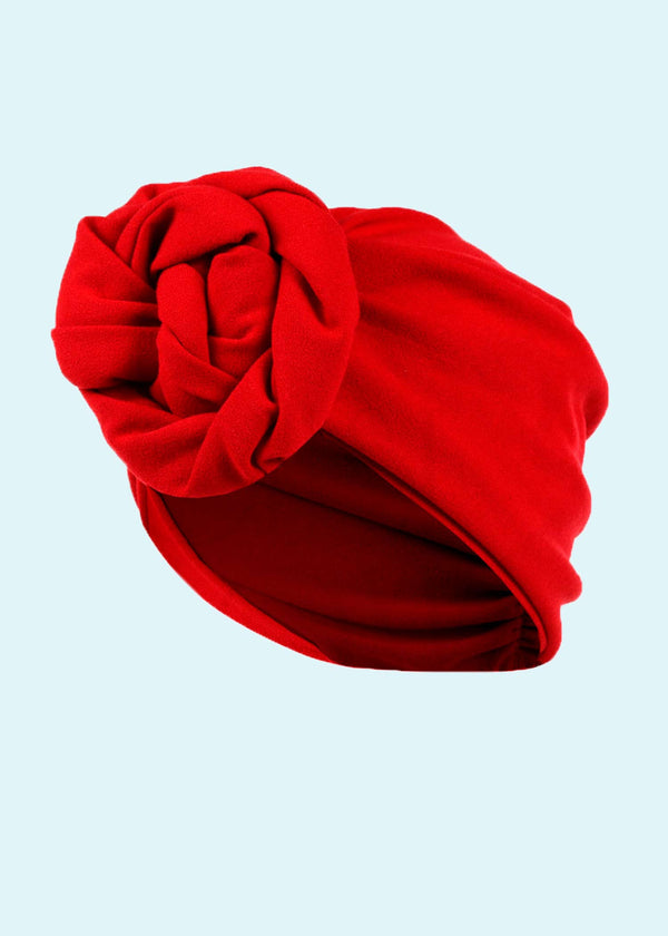 House of Foxy: Turban rød i 1940er stil Accessories Mondo Kaos