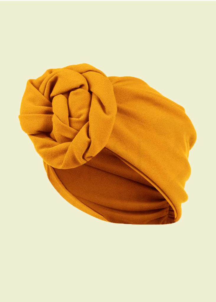 House of Foxy: Turban - Mustard Yellow in 1940s Style Accessories Mondo Chaos