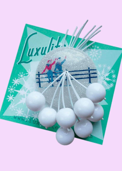 Luxulite: Snow scene brooch Accessories Mondo Kaos