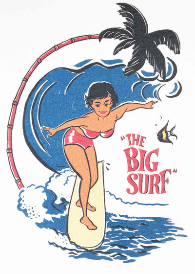 Mischief Made: The Big Surf retro t-shirt med 50'er stils print toej Mondo Kaos