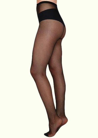 Swedish Stockings: Elvira tights klassiske netstrømper i sort toej Mondo Kaos