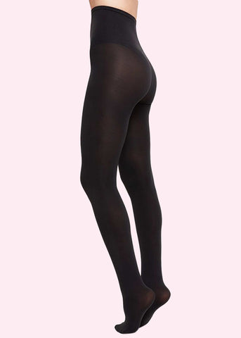 Swedish Stockings: Lia premium tights i sort 100 denier toej Mondo Kaos
